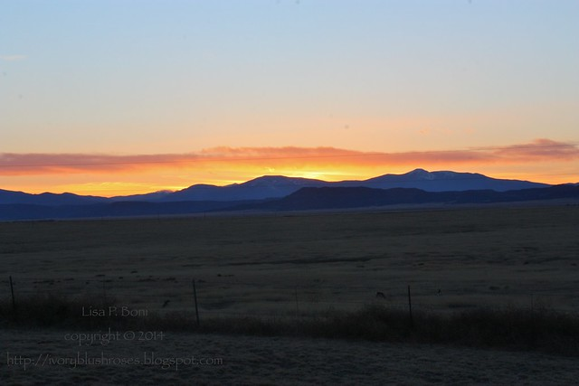 NM Sunset near Raton/Maxwell