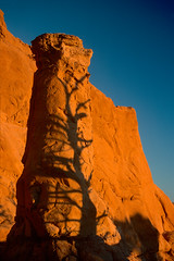 Kodachrome Basin, tree shadow