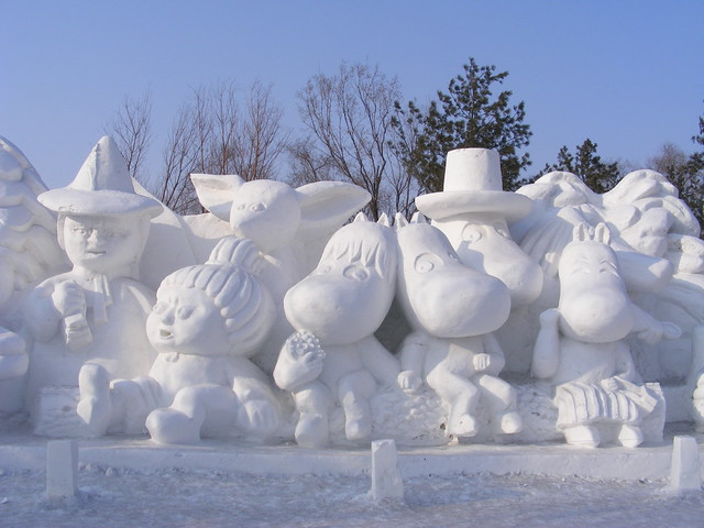 Moomen in Snew, Harbin International Ice and Snow Sculpture Festival