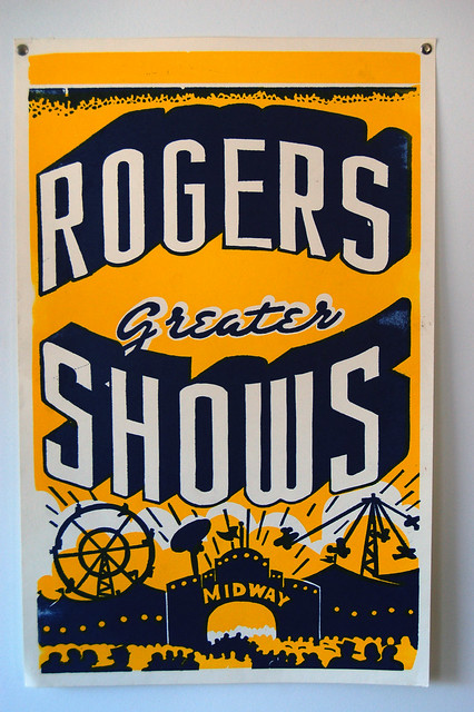 Rogers Greater Shows Poster by Hatch Show Print