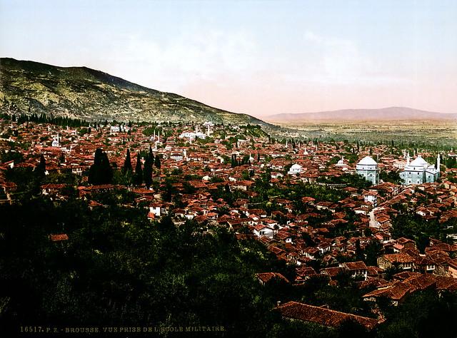 View from the military academy, Bursa, Turkey, ca. 1895