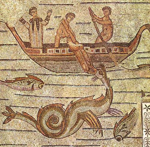 Jonah and the sea-monster (Ketos)