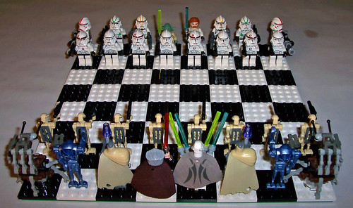 lego star wars clone wars minifig chess set custom lego. Black Bedroom Furniture Sets. Home Design Ideas