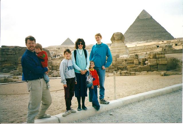 family at pyramids