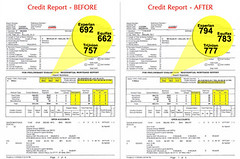 Credit Report - Before and After
