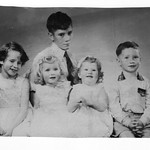 Children of Lytton Percy Wilson and Margaret Wilson Barry, Beverly, Dawn, Jenny, and Chris2