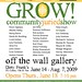 GROW! Show Poster - Philly, PA- 6-14-09