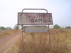 Placa de fronteira da Gambia