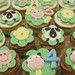 Farm Cupcakes - <span>These were done for a birthday party that was being held on a farm - Handmade fondant toppers - chicks, sheep, piggies and cows  www.cupcakebite.com</span>