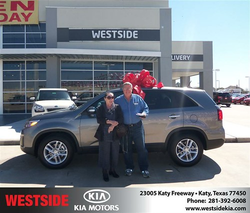 Happy Anniversary to Terry L Winterboer on your 2014 #Kia #Sorento from Gilbert Guzman  and everyone at Westside Kia! #Anniversary by Westside KIA