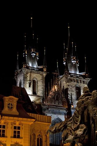 Prague - Tyn Cathedral at night