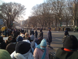Beginning of Inauguration Parade Route
