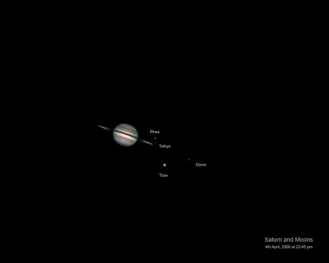 saturn and its moons and their positions - photo #4