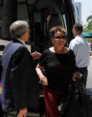 US Congresswoman Barbara Lee during her visit to Cuba where she led a Black Caucus delegation to the island nation. The delegation met with President Raul Castro and former leader Fidel Castro. by Pan-African News Wire File Photos