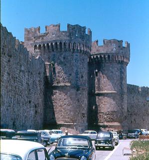 Obraz St. Catherine's Gate. gate palace greece schloss fortress rodos rhodes stcatherine burg grandmaster