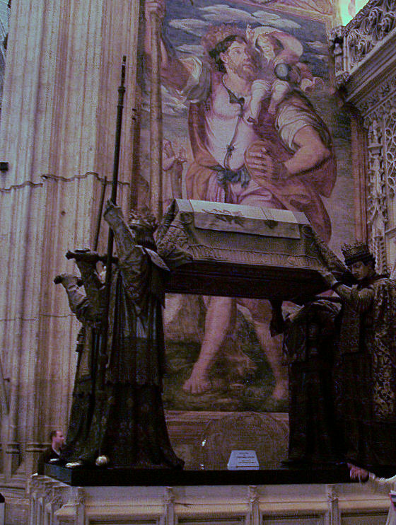 Columbus in Cathedral Seville, Spain