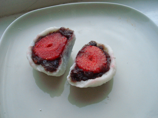 strawberry daifuku mochi | Flickr - Photo Sharing!