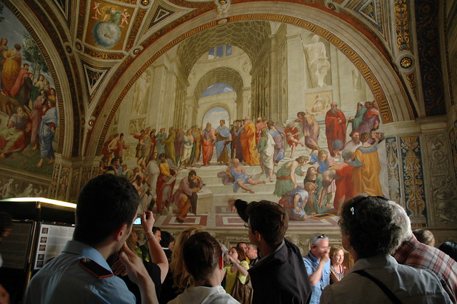 raphaels school of athens The school of athens (italian: scuola di atene) is one of the most famous frescoes by the italian renaissance artist raphaelit was painted between 1509 and 1511 as a part of raphael's commission to decorate the rooms now known as the stanze di raffaello, in the apostolic palace in the vatican.