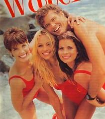 Pamela Anderson, Alexandra Paul, David Hasselhoff & Yasmine Bleeth, Baywatch, 1994.