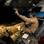 RAF Tristar Pilot Checks Controls During Flight to Iraq