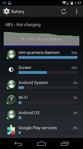 Разряд батареи Nexus 5
