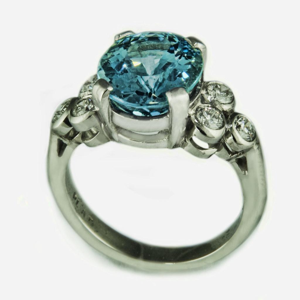 10mm Tungsten Carbide Wedding Bands 88 Fabulous Aquamarine fleur de lis