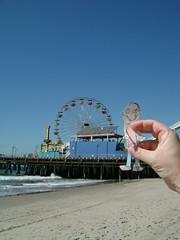 Santa Monica Pier's solar powered ferris wheel