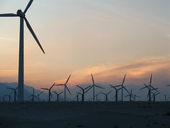 windmill, wind, wind farm, electricity, wind turbine, dusk, sunset, sunrise,
