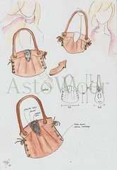 pattern, handbag, sketch, pattern, design, drawing, fashion illustration, cartoon, illustration, pink,
