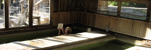 Reading & Relaxation in the coolest of Wilbur Flumes