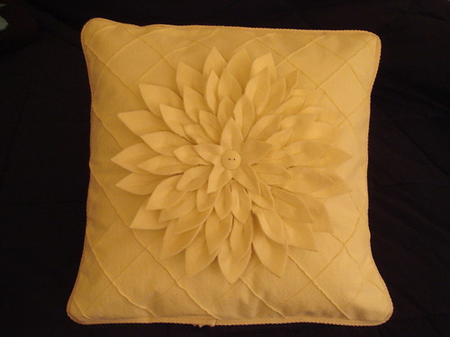 Boom!  It's done with the pillow form inside. Amy Butler snow mum pillow.