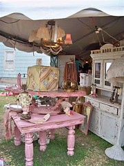 Junk Gypsies booth in Warrenton, TX