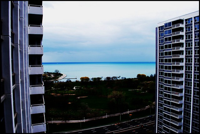 lake michigan from marine drive chicago