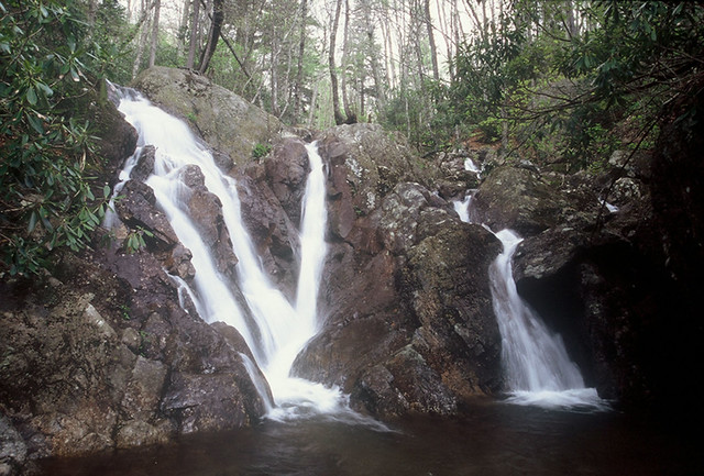 Waterfall along Cabin Creek at Grayson Highlands