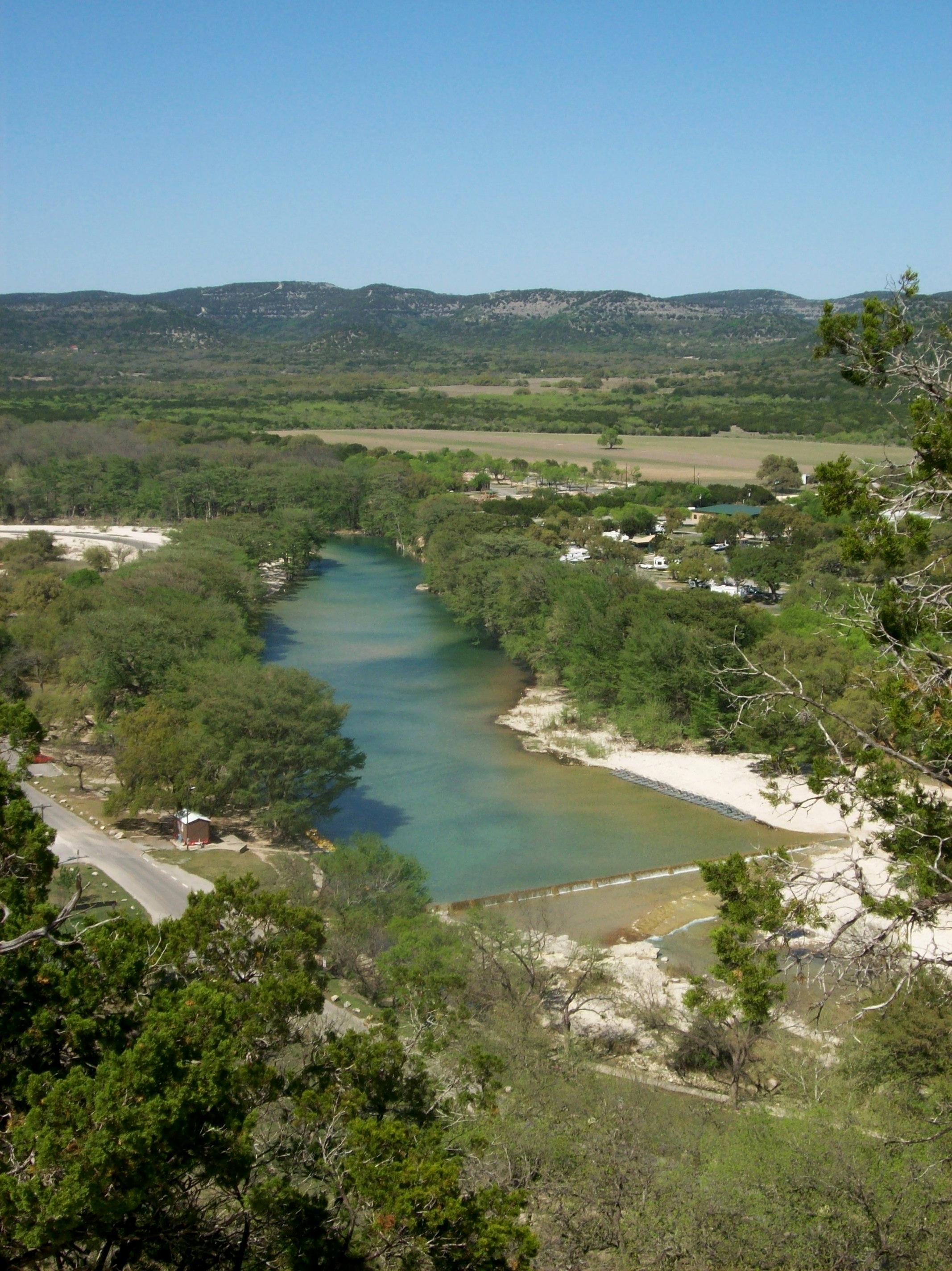 Frio River Garner State Park Texas Dog