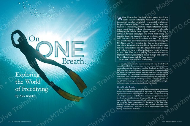 On one breath dive training magazine page spread - Dive training magazine ...