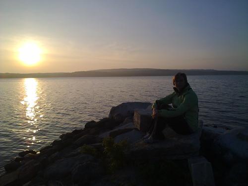 sunset lorie sheguiandah batmanscamping