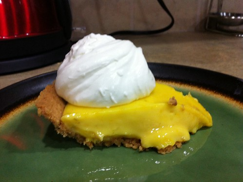 Key lime pie with tequila lime whipped cream!