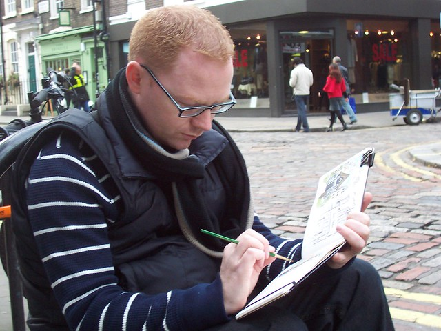 pete sketching