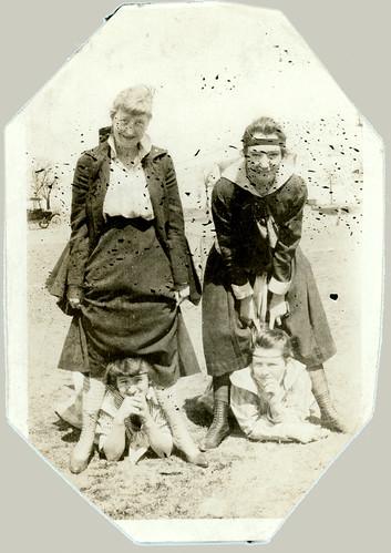 Four girls posing