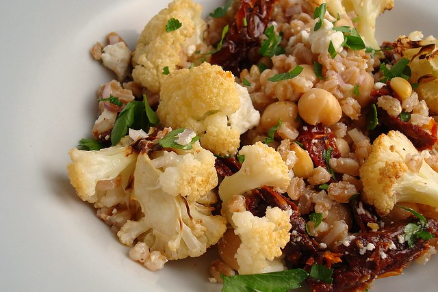 Roasted Cauliflower and Farro Salad | Flickr - Photo Sharing!