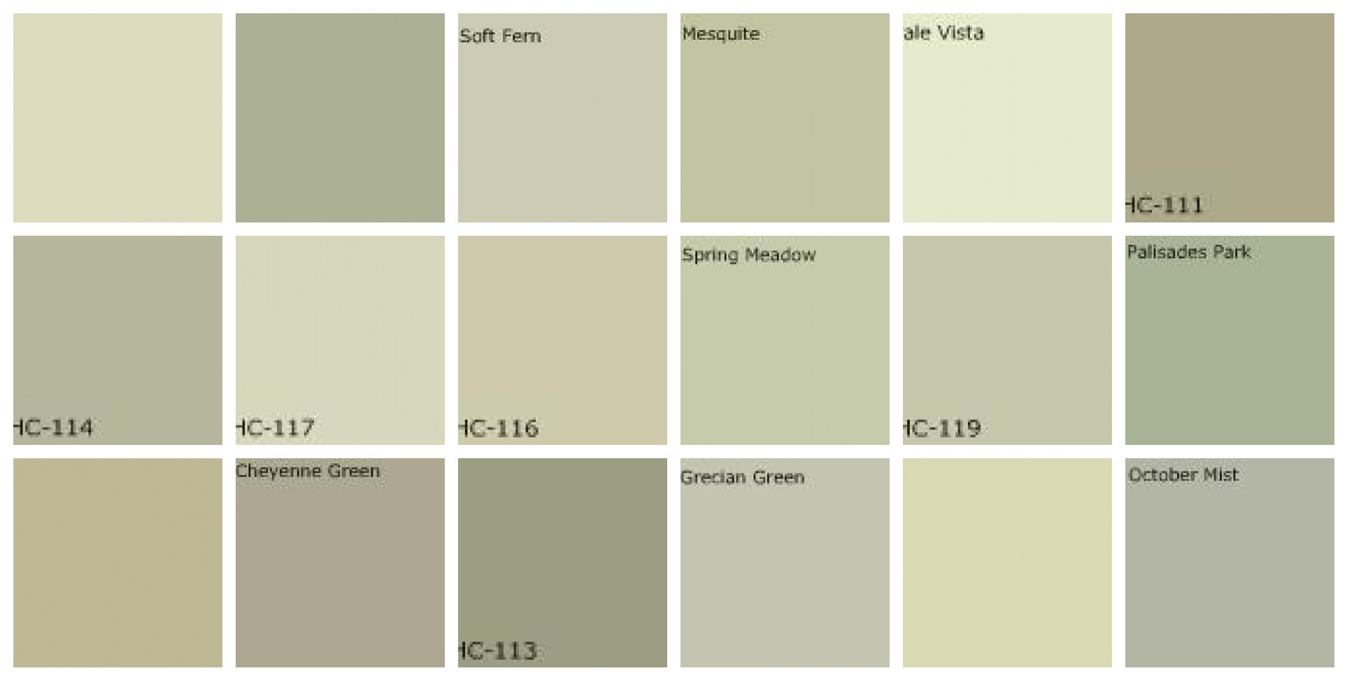 Fluidr gray green paint designers 39 favorite colors by for Benjamin moore light green