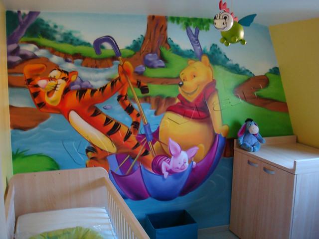 Idee Deco Chambre Bebe Fille Rose Et Gris : Décoration Kevgraph  chambre denfant (Winnie lourson)  Flickr