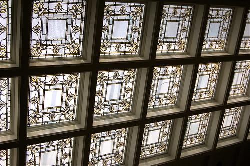 library victorian troy stainedglass ceiling newyorkstate architects leadedglass skylights rooflights nikonflickraward henryotischapman visipix edbrodzinsky hartmemoriallibrary jstewartbarney