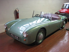 race car, automobile, vehicle, classic car, vintage car, land vehicle, sports car,
