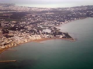 Vue Aérienne de la banlieue nord de Tunis