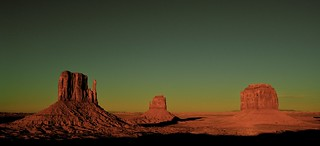 The Mittens, Monument Valley, Utah/Arizona, Down from the Visitor Center at the Navajo Tribal Park