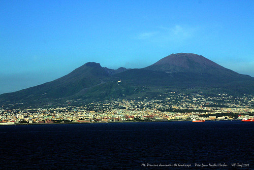 Mount Vesuvius Towers over Naples