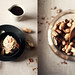 One Ingredient Banana Ice Cream with Creamy Peanut Butter and Roasted Peanuts