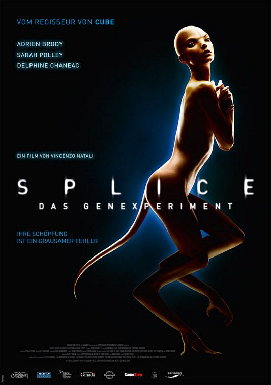 Splice German version movie poster